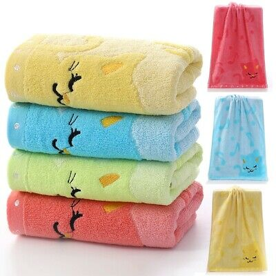 Cartoon Soft Cotton Bath Towel Baby Infant Newborn Washcloth Feeding Wipe Cloth