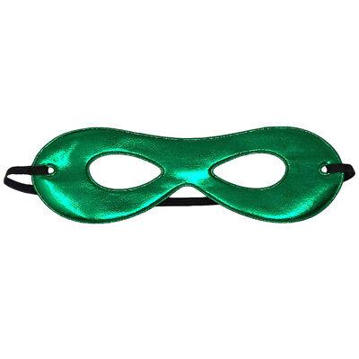 Adult Shiny Green Superhero Mask ~ FUN HALLOWEEN COSTUME NEW YEAR PARTY EYE MASK - Green Superhero Mask