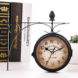Classic Double-sided Outdoor Garden Paddington Station Wall Clock Iron Frame