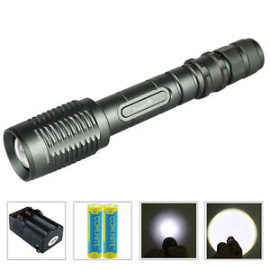 Trustfire Z5 Tactical LED Flashlight Zoomable 1600LM CREE 1 Mode +18650 Battery