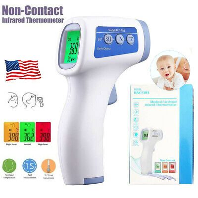 Non Touch Infrared Digital Forehead Thermometer Baby Adult Body Temperature Gun