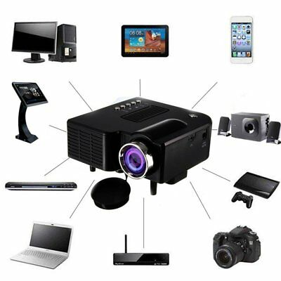 1080P Full HD LED Mini Portable Projector Home Theater Cinema AV  USB Lot - L