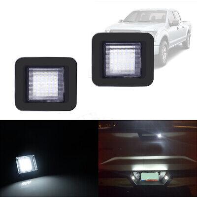 2pc Full LED White License Plate Lights For 15-up Ford F-150 & Ford 17-up Raptor