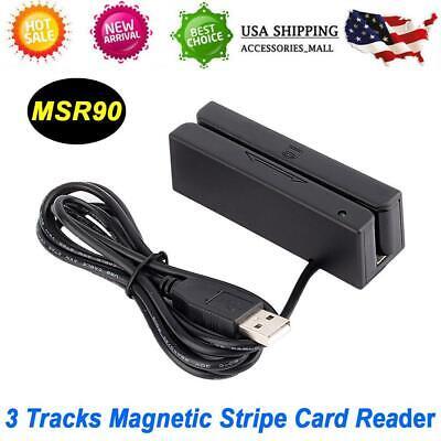 Msr90 3 Tracks Usb Magnetic Stripe Card Reader Writer Encoder Credit Magstrip Us