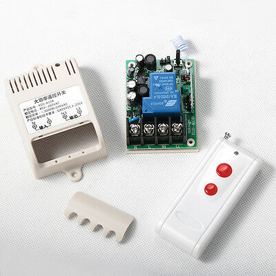 AC 110V Long Distance High Current 30A Relay RF Wireless Remote Control Switch