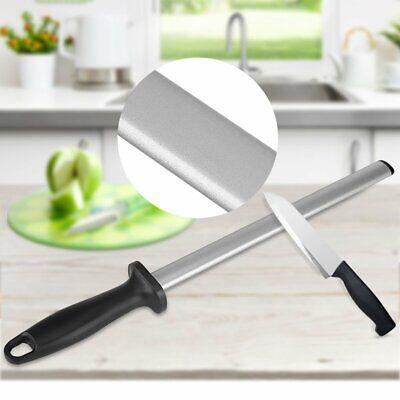 12 inch New Best Diamond Knife Sharpener Sharpening Steel Grinder Oval (Best Diamond Knife Sharpener)