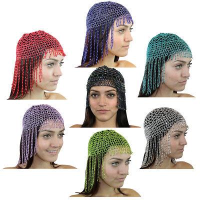 Women Beaded Cleopatra Belly Dance Headpiece Head Piece Costume Hip Shakers - Cleopatra Head Piece