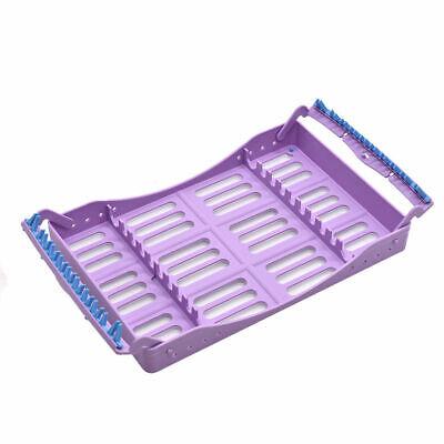 Dental Autoclaveable Plastic Sterilization Rack Box Cassette For 10 Instruments