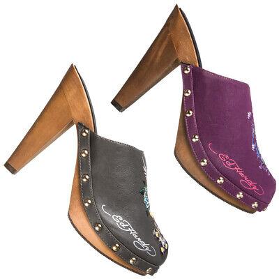 Ed Hardy Portland Heel Damen Clogs Absatz Schuhe Freizeit PS0013A10FPR Pumps neu Heel Frauen Schuhe