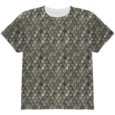 Halloween Steel Scale Mail Armor Costume All Over Youth T Shirt