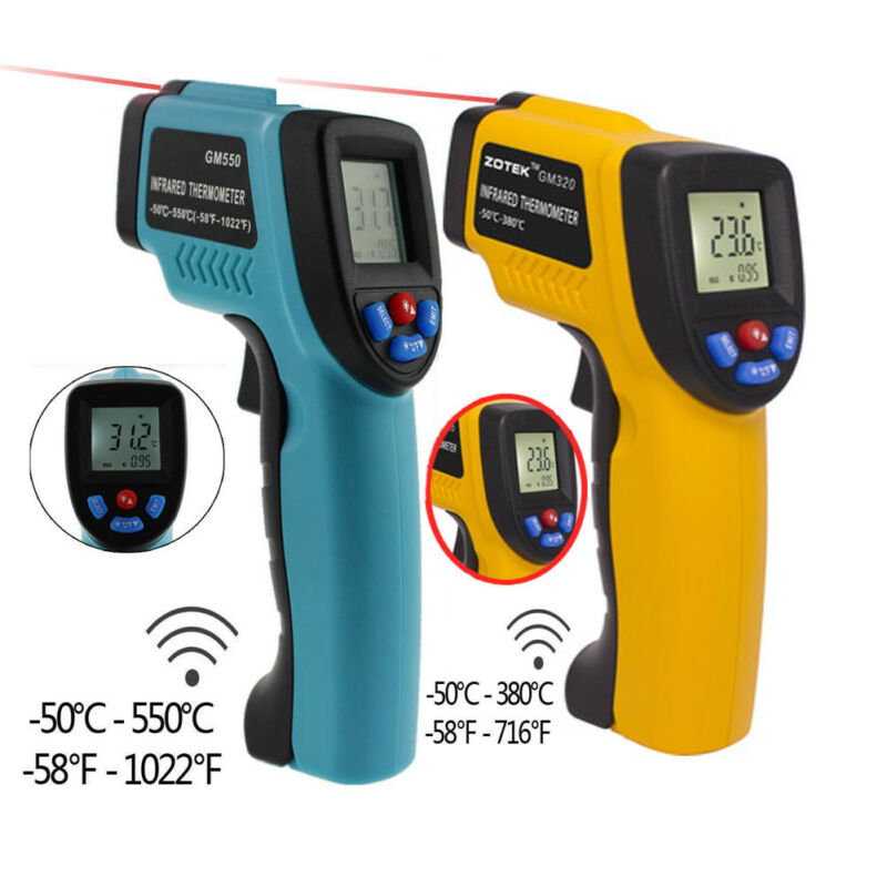 GM320/GM550 Digital Infrared Thermometer Non-Contact IR Laser Temperature Gun  K