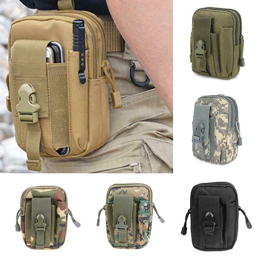 Tactical Molle Pouch Belt Military Hiking Camp Phone Pocket Waist Fanny Bags ##