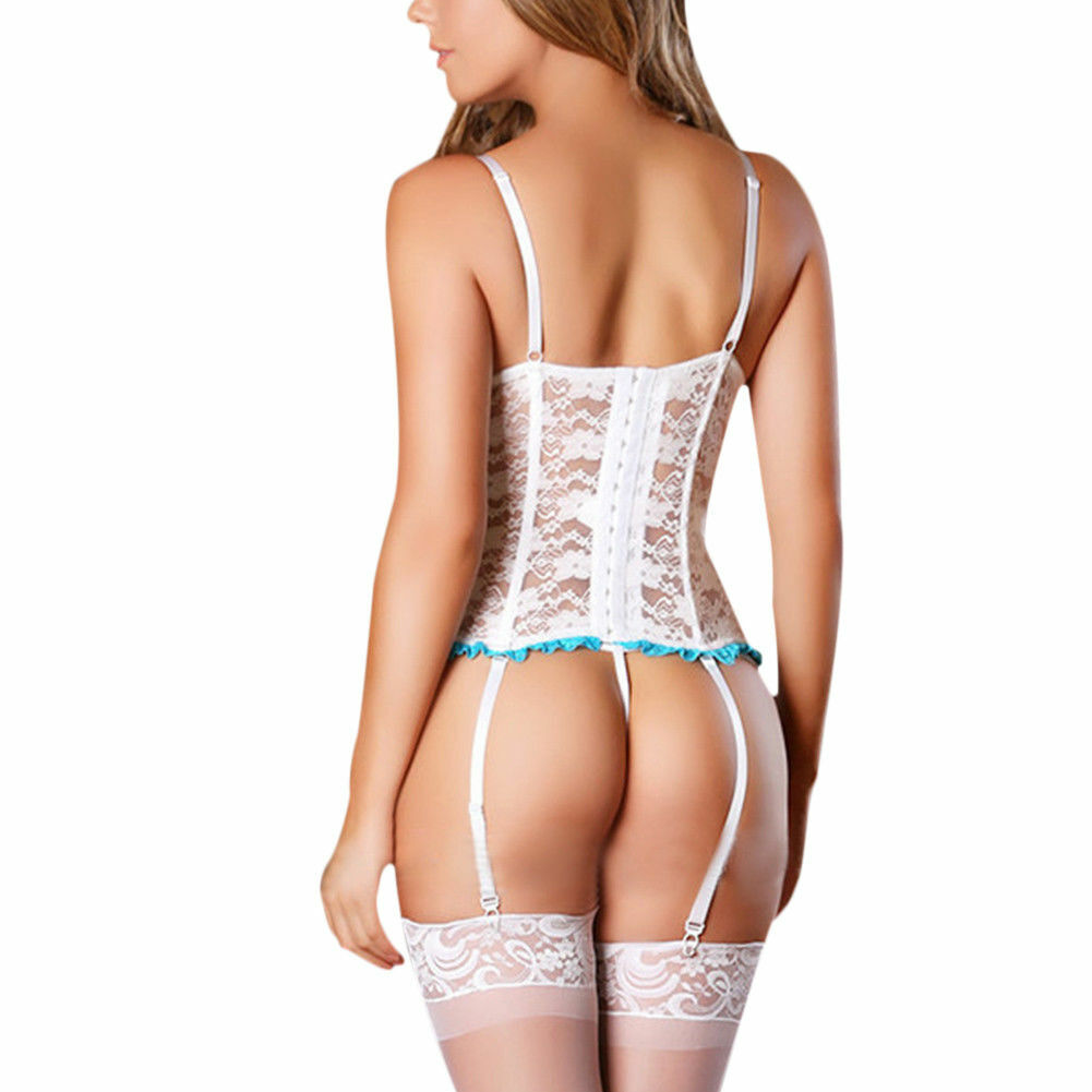 Women Sexy Lingerie Exotic Floral Lace Sleepwear Babydoll Nightwear G-string US Clothing, Shoes & Accessories