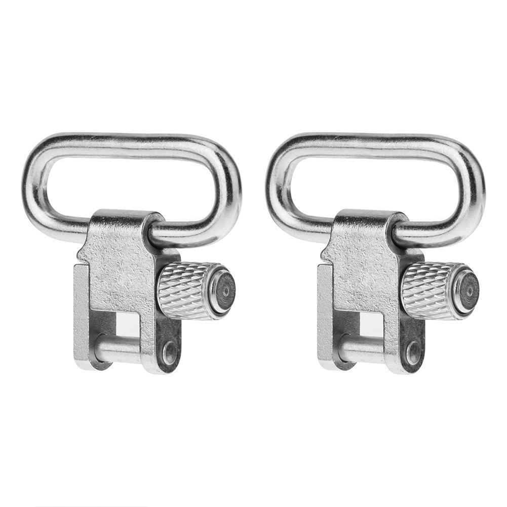 2pcs QD Quick Detach Stainless Steel Rifle Gun Sling Swivels with Studs Hunting