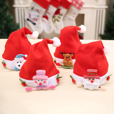 Snowman Reindeer Santa Claus Christmas Hat Child Adult Party Dress Hat Gift New
