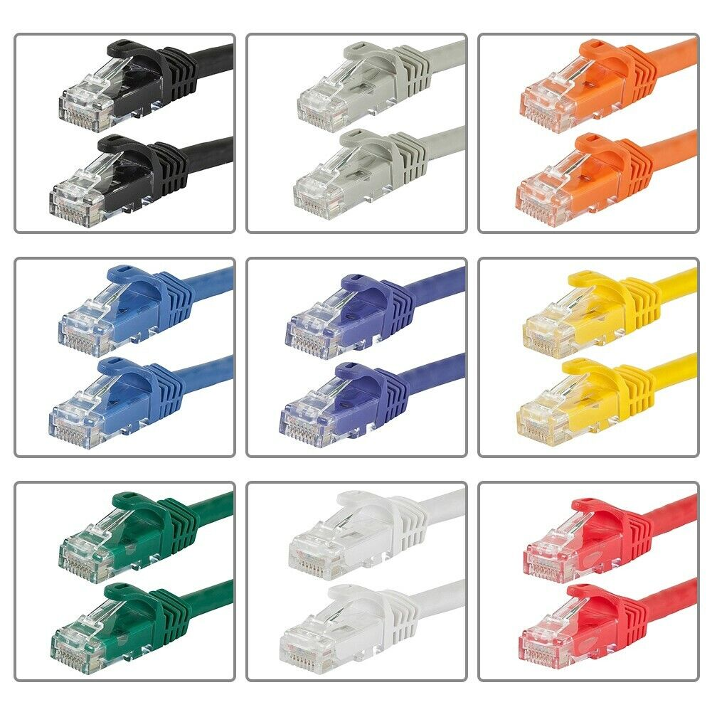 3 Pack Lot 2ft CAT6 Ethernet Network LAN Patch Cable Cord 550 MHz RJ45 Blue