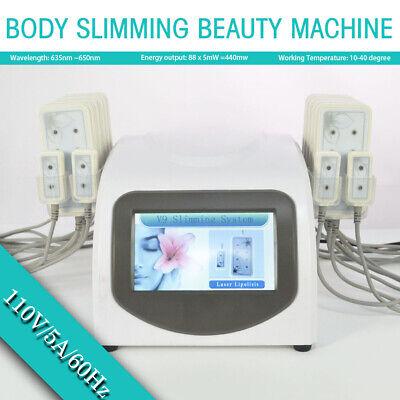 Body Slimming Beauty Machine 110v Fat Removal Lipo Massage Laser Pads Lipolysis