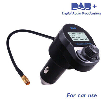 1pc Car DAB Receiver Bluetooth Hands-Free Radio Tuner Auto DVB Radio for Vehicle Tune Free Fm Transmitter