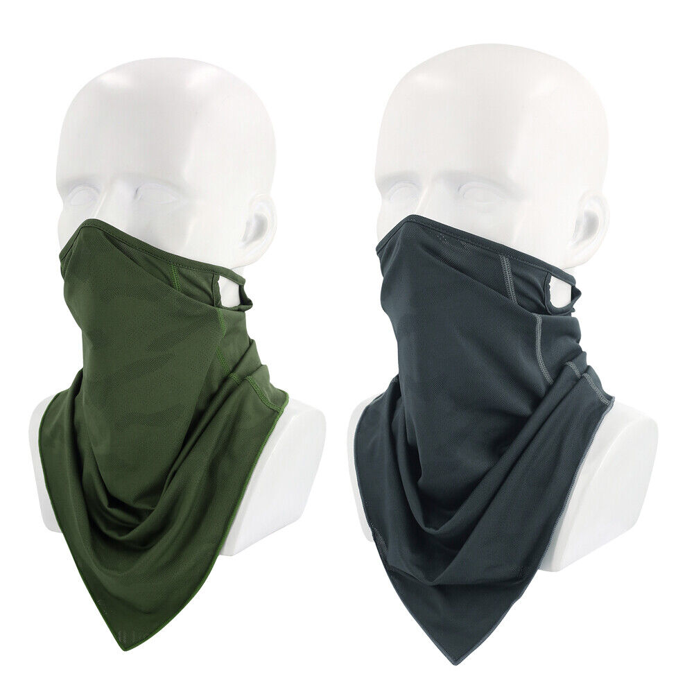 Bandana Face Mask Neck Gaiter Sun Shield Scarf Balaclava Headwear with Loops US Clothing, Shoes & Accessories