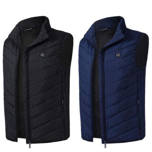 Men's USB Electric Heated Warmer Vest Winter Outdoor Recharg