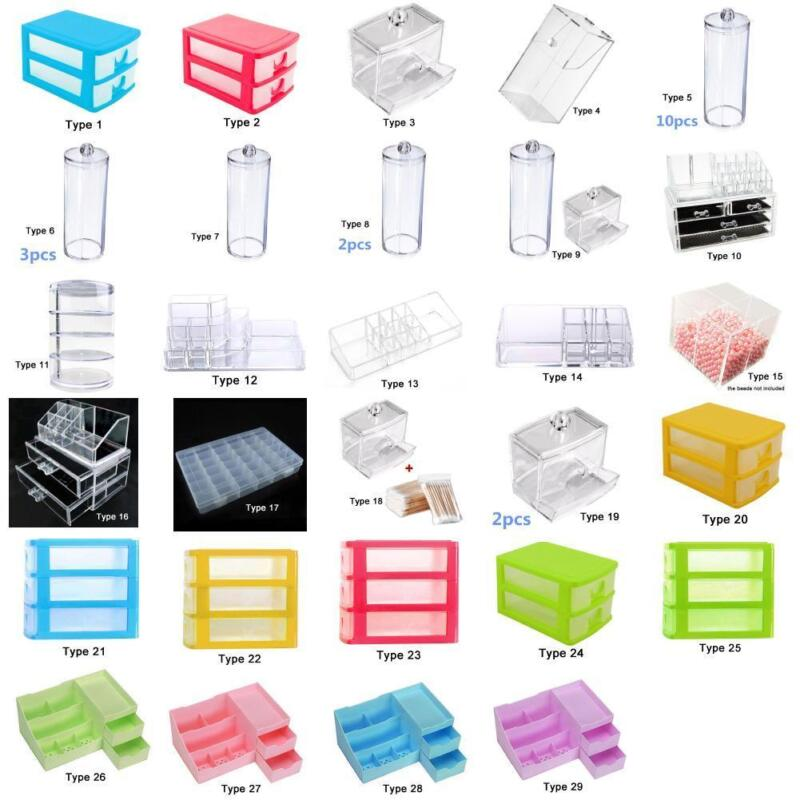 Clear Acrylic Cosmetic Organizer Makeup Case Holder Drawers Jewelry Storage KMO