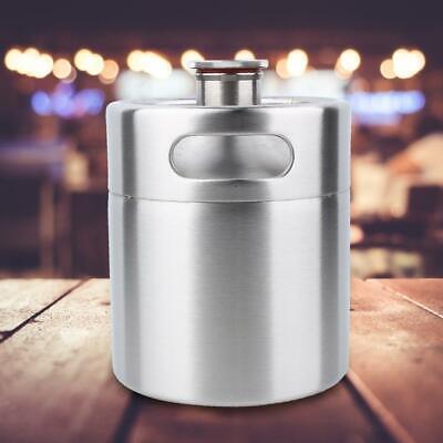 10L Edelstahl Fass Growler Keg Hause brauen Mini Bierfass Flasche Silber SET - Mini-bierfass