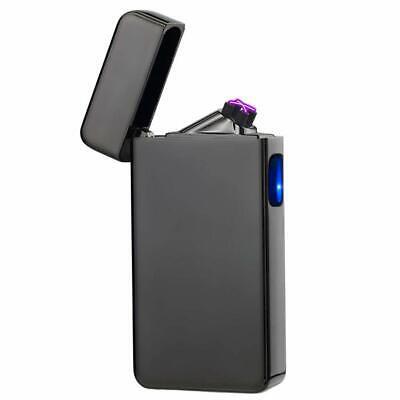 Encendedor Cigarrillo Electrico Arco Doble Recargable USB Resistente Al Viento