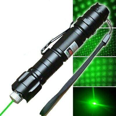 900Miles 532nm Strong Beam Light Green Laser Pointer Pen+Star Cap+Belt Clip USA