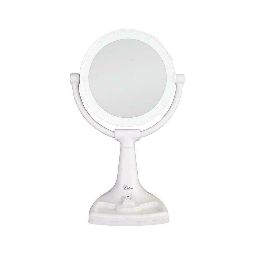 Zadro Max Bright  Sunlight Dual Sided Vanity Mirror, White,