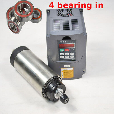 Four Bearing1.5kw Er11 Air-cooled Spindle Motor And 1.5kw Hy Inverter Drive Vfd