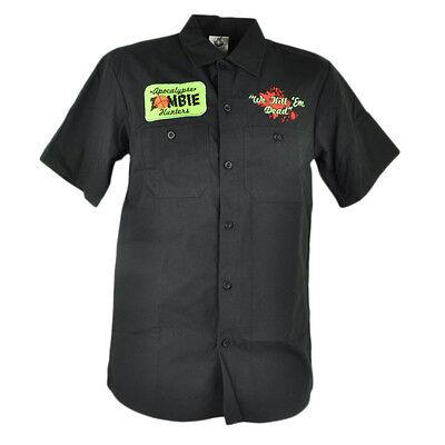 Apocalypse Zombie Hunter Wir Kill Em Knöpfe Unten Kostüm Halloween Klein Shirt