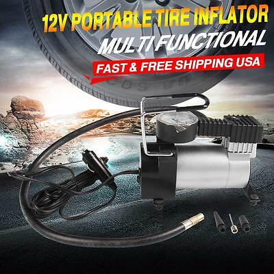 Carbole Multi-function 12v Portable Pump Air Compressor Camping Bicycle Riding