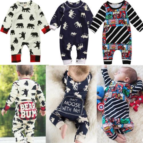 XMAS Newborn Baby Boy Girls Cute Rompers Bodysuit Jumpsuit O