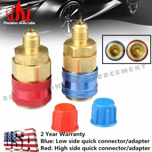 1 Pair R134a Automotive Air Conditioning Quick Connector Coupler Low High Side A