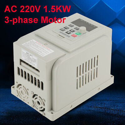 Ac 220v 1.5kw Inverter Motor Drive Vfd Speed Controller Single To 3 Phase