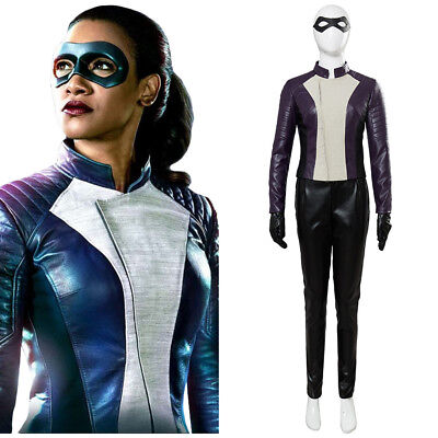 The Flash Iris Allen Cosplay Costume Outfit Halloween Women Suit Gloves Eyemask - Womens Cheap Costumes