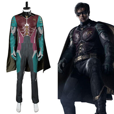 Teen Titans Robin Dick Grayson Cosplay Costume Outfit Uniform Jumpsuit Suit - Teen Titan Robin Costume
