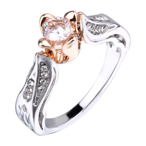 Jewellery - Women Small Rose Flower Ring Wedding Jewelry Promise Engagement Rings Fashion
