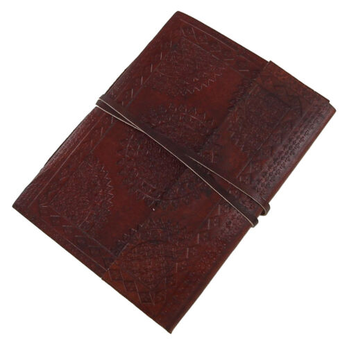 Medieval Circular Embossed Leather Bound Blank Journal Diary