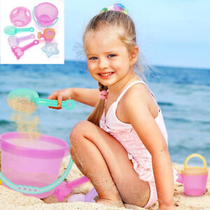 Beach Sand Toys Set Models Molds Bucket Shovels Rakes Watering Can Mesh Sifter