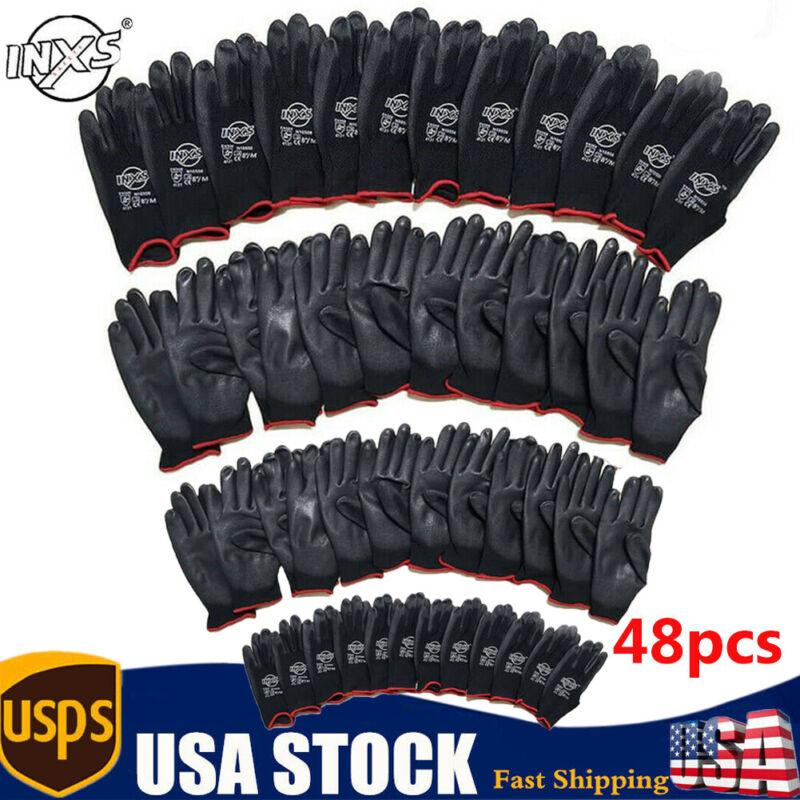 24 Pairs PU Nylon Work Gloves for Garden Fishing Working Gloves,CE 3131,US