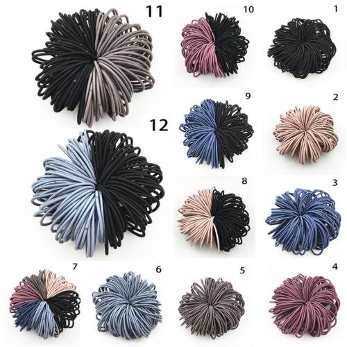 100pcs Girl Ponytail Hair Holder Baby Thin Elastic Rubber Band Kids Hair Tie NEW