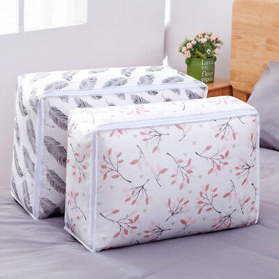 Foldable Storage Bag Clothes Blanket Quilt Closet Sweater Organizer Box Pouch G Sweater Storage Boxes
