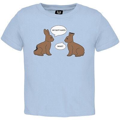 Blue Toddler T-shirt - Baby Boys Funny Bunnies Blue Toddler T-Shirt