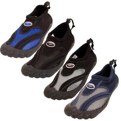 Mens Toe Slide Waterproof Shoes Aqua Socks Slip On Mesh Pool
