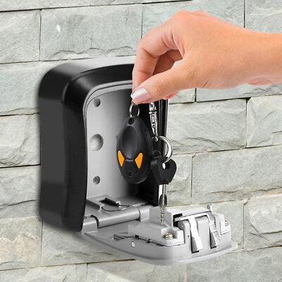 4 Digit Password Key Box Safety Lock Organizer Case Wall Mounted Padlock Realtor