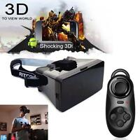 Virtual Reality 3d Glasses Google Cardboard + Bluetooth Controller Gamepad A - unbranded - ebay.co.uk