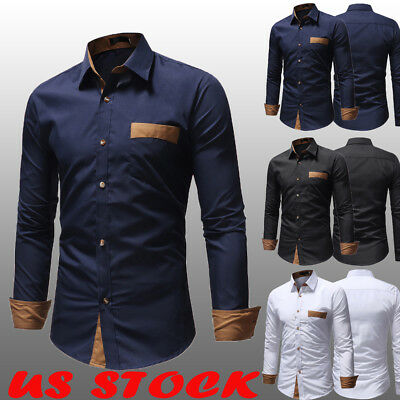 Formal Dress Shirt (Mens Formal Shirt Men Striped Dress Designer Casual Luxury Shirts Regular)