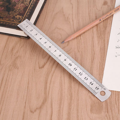 6 inch / 15 cm Steel Metal Straight Ruler Precision Scale Dual BUY 2 GET 1 FREE