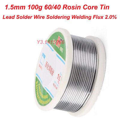1.5mm 100g 6040 Rosin Core Tin Lead Solder Wire Soldering Welding Flux 2.0